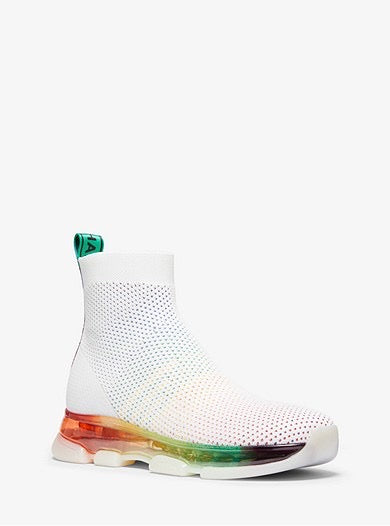 Tenis Michael Kors Kendra Stretch Knit Sock Rainbow
