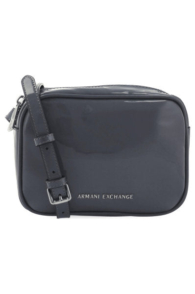 Camera Bag Armani Exchange Charol Gris