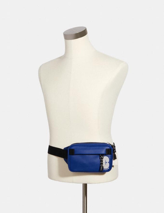 Mini Belt Bag Coach Edge Azul