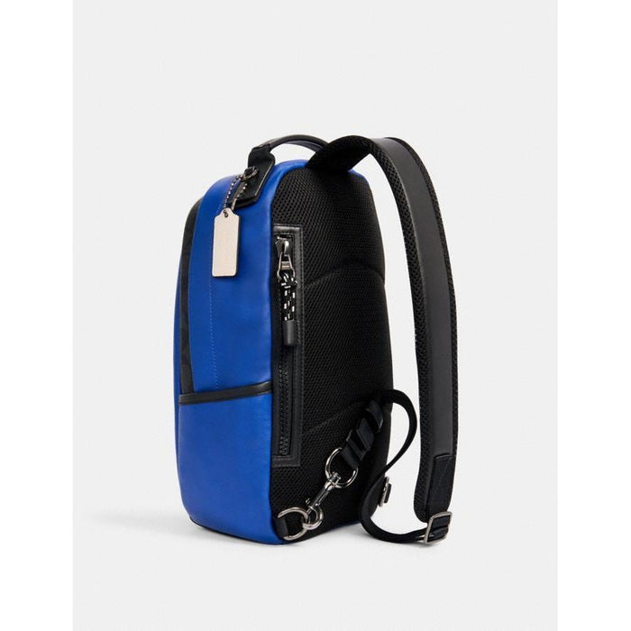 Sling Bag Coach Edge Azul Negro