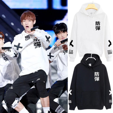 BTS Bulletproof Taehyung V Hoodie Thickened Style