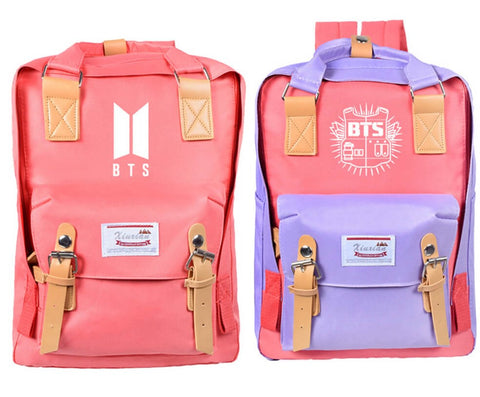 BTS Candy Color Canvas Backpack
