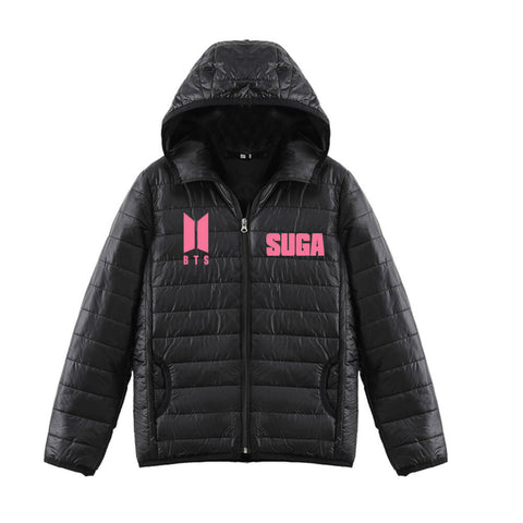 BTS Casual Hooded Down Jacket
