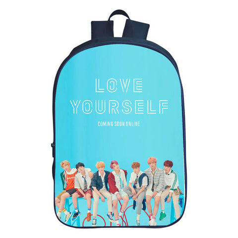 BTS Love Yourself Print Backpack