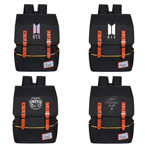 BTS USB Charging Leisure Canvas Backpack