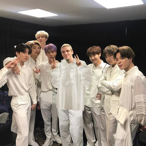 Photo of BTS members and Lauv