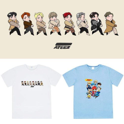 ATEEZ Cartoon Printing T-shirt