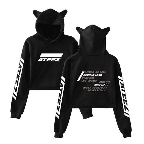 ATEEZ Fashion Cat Ear Hoodie