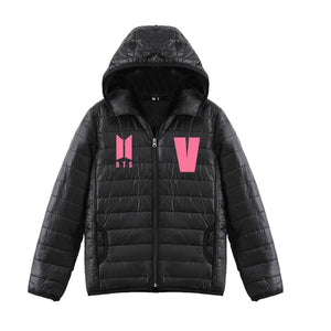 Bangtan Casual Hooded Down Jacket