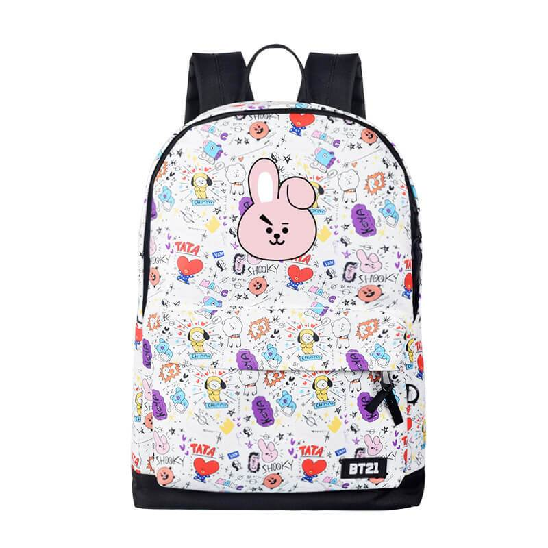 Bangtan Cute Printed Backpack