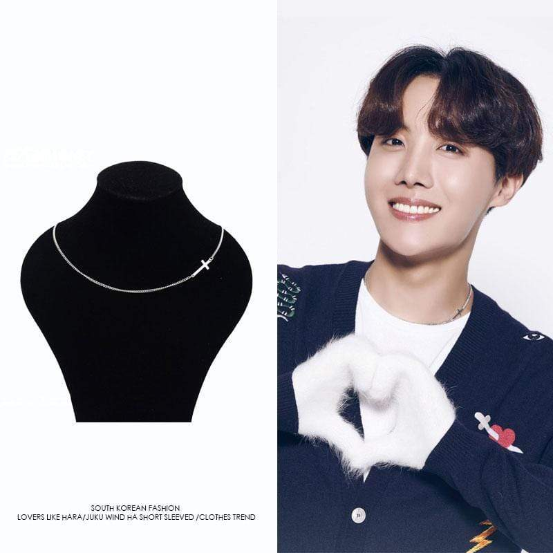 Bangtan J-HOPE Cross Clavicle Necklace