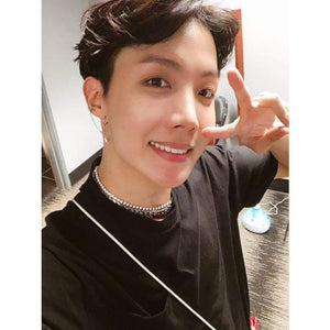 Bangtan J-hope Twitter Update Fashion Chain Earring