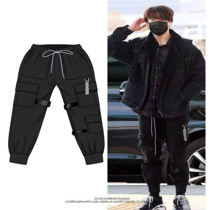 Bangtan Jungkook 'Boy With Luv' Dance Practice Trousers