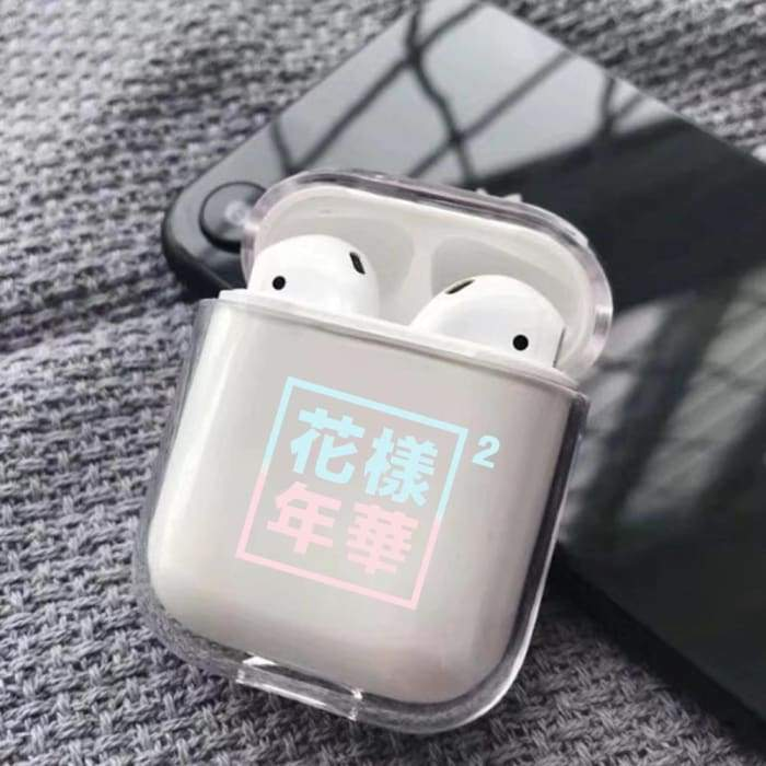 Bangtan Logos Transparent Airpods Case
