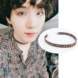 Bangtan Suga FAKE LOVE Fashion Collar Neckband