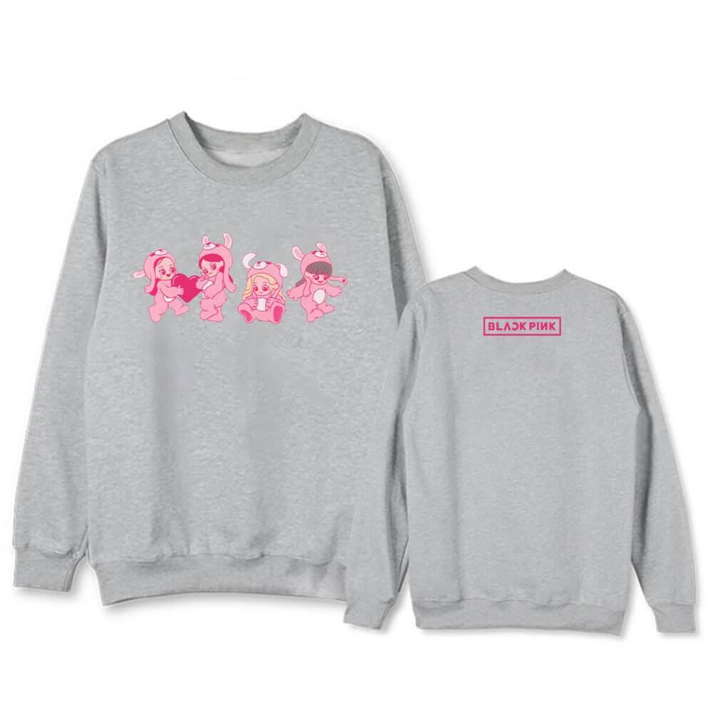 Blackpink Cute Cartoon Printed Sweatshirt