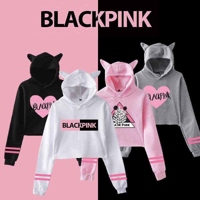 Blackpink Fashion Cat Ears Cotton Hoodie