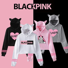 Load image into Gallery viewer, Blackpink Fashion Cat Ears Cotton Hoodie
