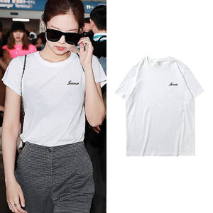 Blackpink JENNIE Letter Printed T-shirt