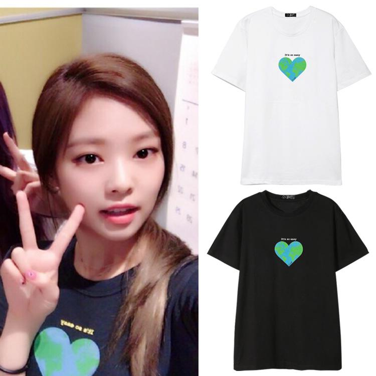 Blackpink JENNIE Same Printed T-shirt