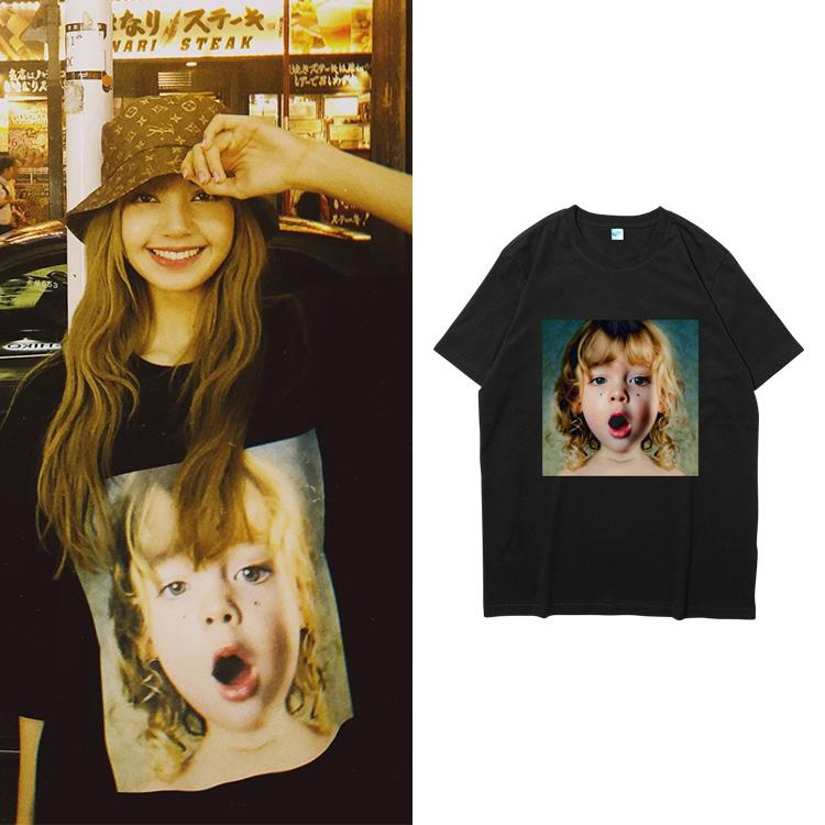 Blackpink LISA Same Printed T-shirt
