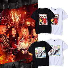 Load image into Gallery viewer, Blackpink Photo Printed Cotton T-shirt