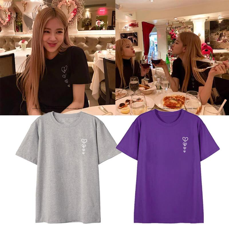 Blackpink ROSÉ Same Printed T-shirt