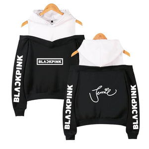 Blackpink Signature Off Shoulder Hoodie