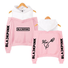 Load image into Gallery viewer, Blackpink Signature Off Shoulder Hoodie