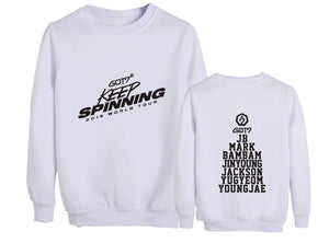 GOT7 2019 WORLD TOUR Concert Cotton Casual Sweatshirt