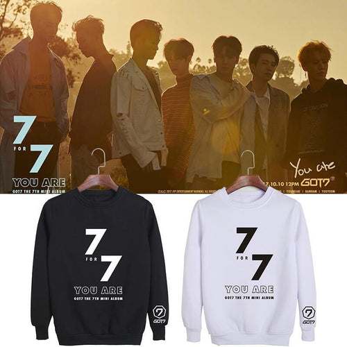 GOT7 7FOR7 You Are Album Printed Cotton Loose Sweatshirt
