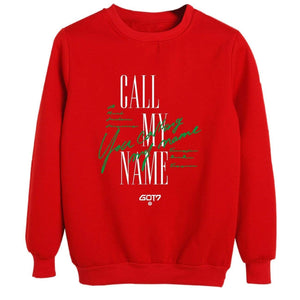 GOT7 CALL MY NAME Album Same Printed Casual Korean Sweatshirt