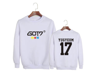 GOT7 EYES ON YOU Album Printed Cotton Casual Sweatshirt