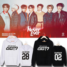 Load image into Gallery viewer, GOT7 FLIGHT LOG ARRIVAL Member Name Printed Cotton Hoodie