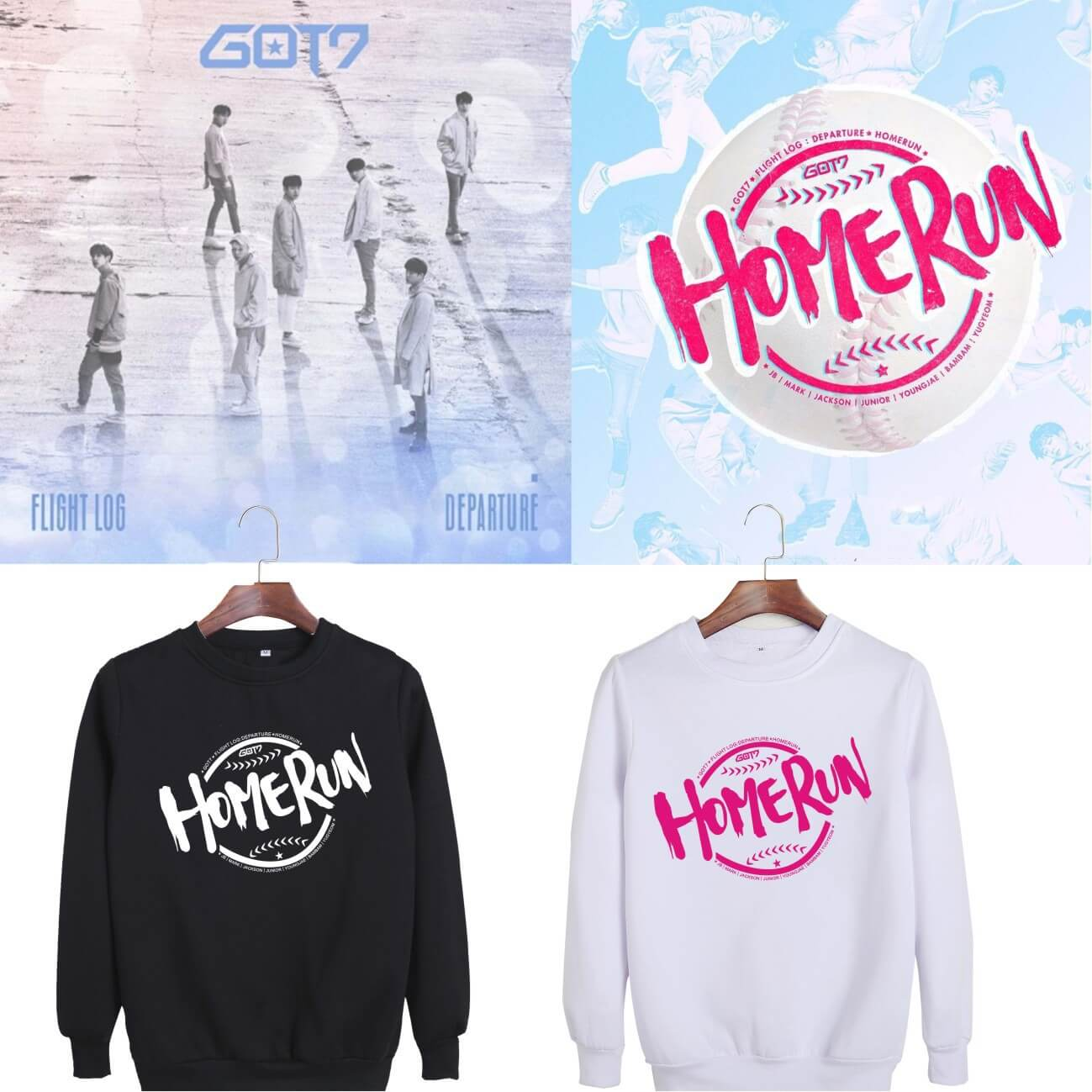 GOT7 FLIGHT LOG HOME RUN Sweatshirt
