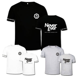 GOT7 FM 2017 Concert NEVER EVER Letter Printed T-shirt