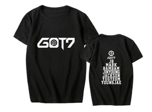 GOT7 Member Name Printed Casual T-shirt