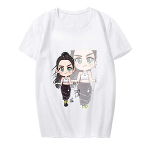 ITZY Cartoon Character Printed T-shirt