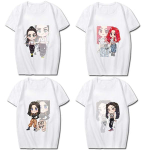 ITZYCartoon Character Printed T-shirt