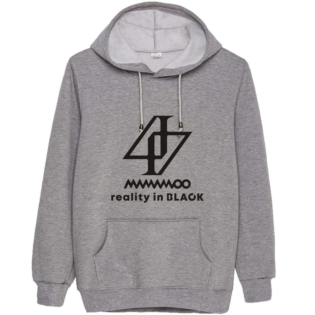 MAMAMOO reality in BLACK Hoodie (白色-加绒 S)