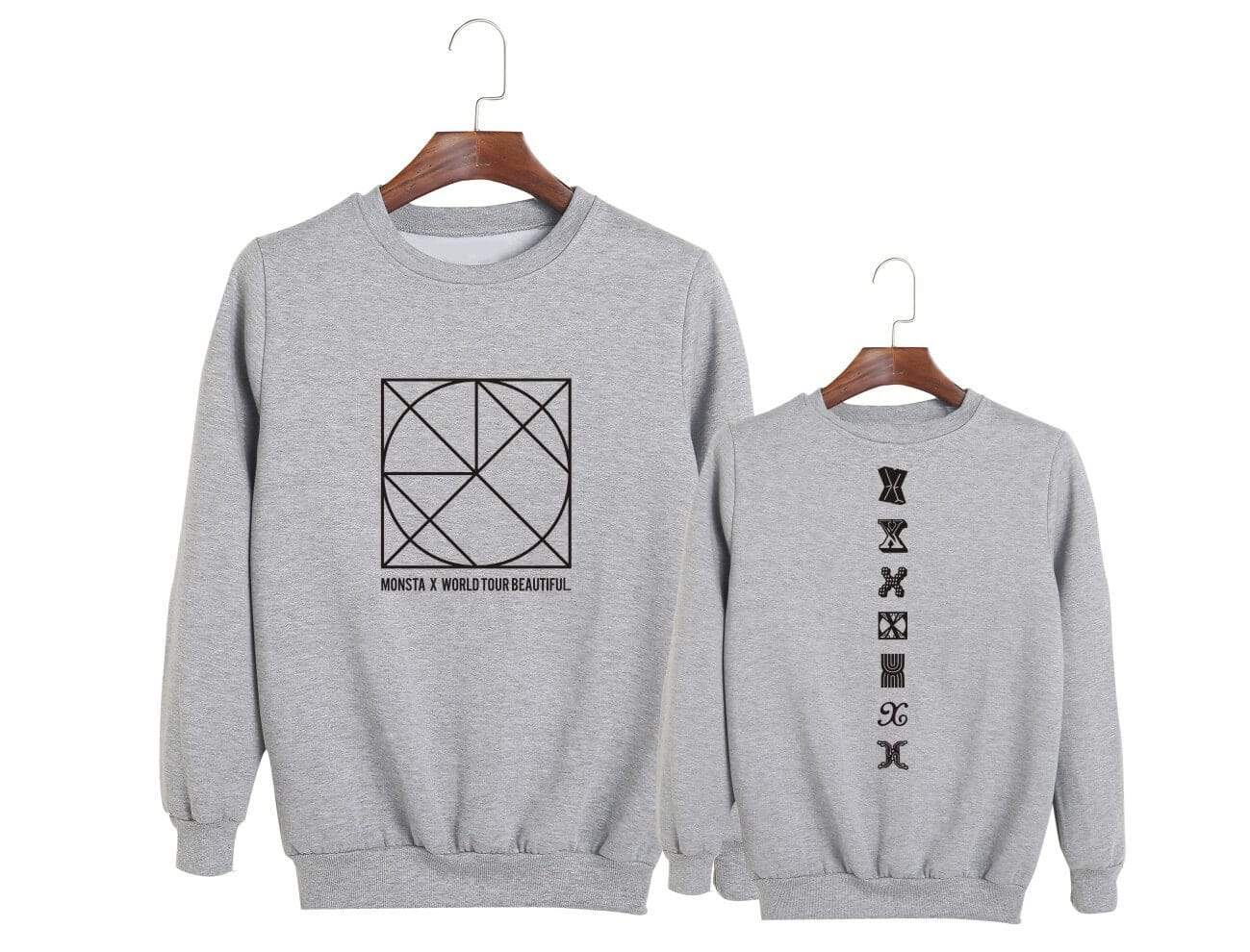 MONSTA X BE BEAUTIFUL Concert Printed Casual Loose Sweatshirt
