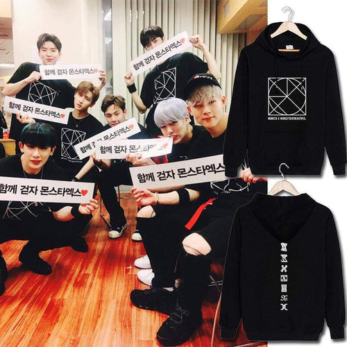 MONSTA X BE BEAUTIFUL Concert Printed Cotton Hoodie