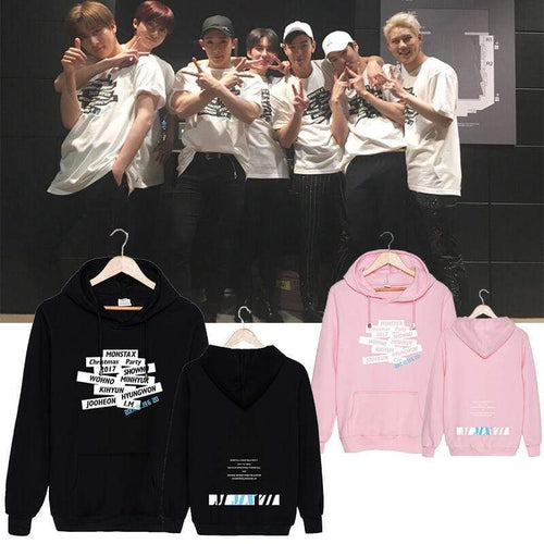 MONSTA X Christmas Party 2017 Concert Printed Cotton Hoodie