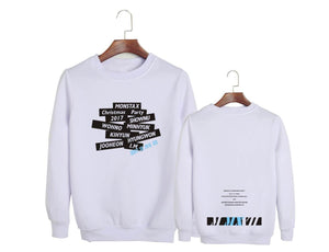 MONSTA X Christmas Party Printed Casual Sweatshirt