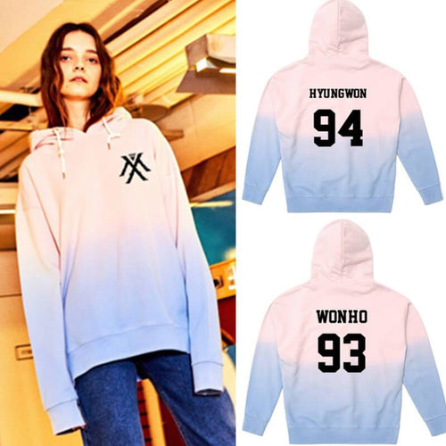 MONSTA X Cotton Casual Gradient Thin Hoodie