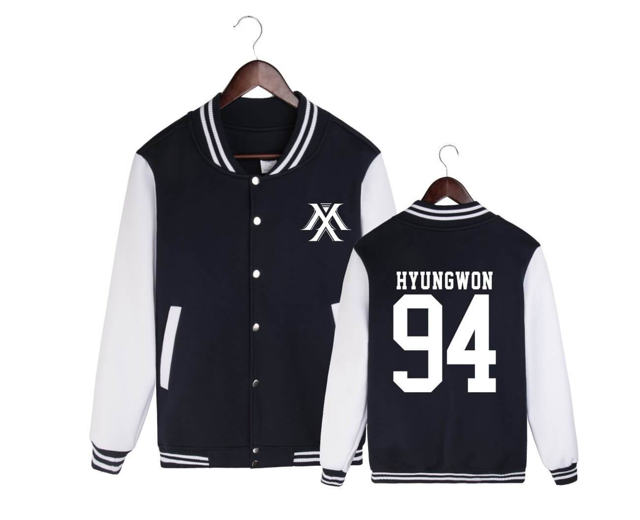 MONSTA X Member Name Printed Baseball Uniform