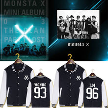 Load image into Gallery viewer, MONSTA X Member Name Printed Baseball Uniform
