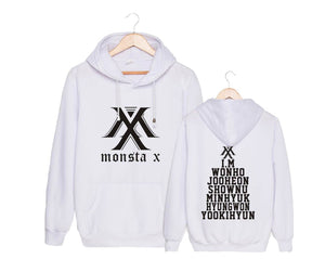 MONSTA X Member Name Printed Casual Hoodie