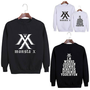 MONSTA X Member Name Printed Casual Sweatshirt