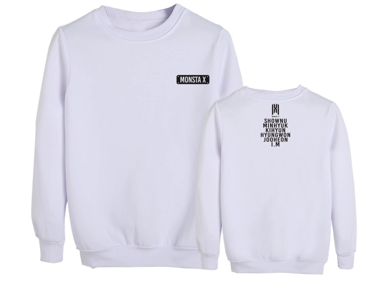 MONSTA X Member Name Printed Sweatshirt